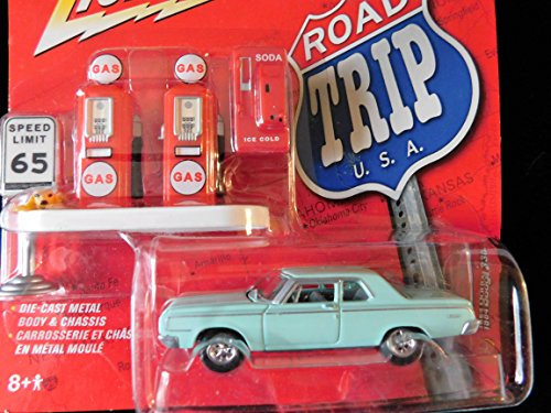 1964 Dodge 330 with Antique Gas Pumps Road Trips USA edition1:64 scale die-cast by Johnny Lightning