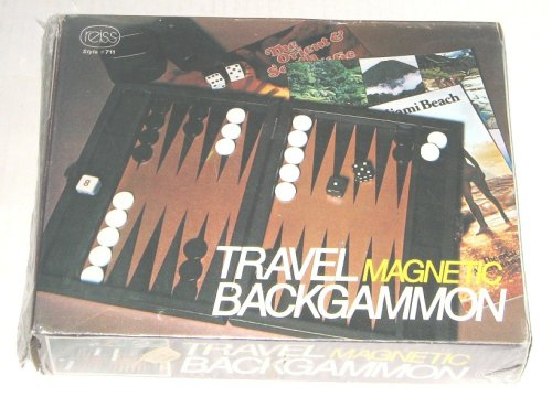 Travel Magnetic Backgammon / Reiss Style #711 by Reiss Magnetic Travel Backgammon