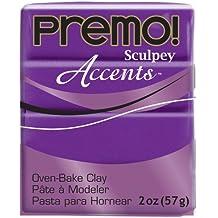 Premo Sculpey Polymer Clay 2 Ounces-Purple Pearl