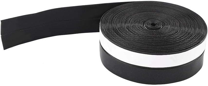 55M 45mm Coupe-froid en silicone bande de balayage noir anti-insectes bande d/étanch/éit/é anti-poussi/ère disolation phonique coupe-vent anti-collision