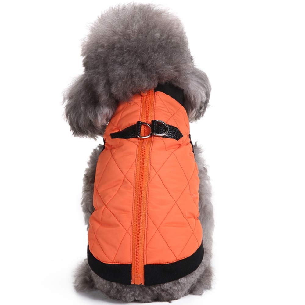 orange M orange M Warm Dog Jackets Winter Waterproof Windproof, Cold Weather Dog Coats for Small Medium Large Dogs with Harness Clips and Full Zipper Closure orange Medium