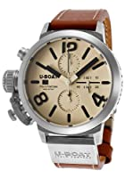 U-Boat Men's Automatic Chronograph Beige Dial Brown Genuine Leather from U-Boat