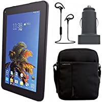 SLIDE 7 Android Tablet with Tablet Bag Accessory Bundle - Black