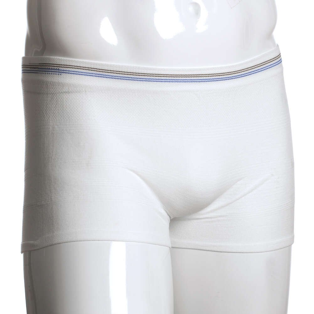 MediChoice Incontinence Underwear, Holds Liners and Pads in Place, Seamless Knit, Mesh, Polyester Spandex, Small To Medium, Brown Blue (Case of 100)