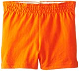 Soffe Youth Girls' Authentic Shorts, Orange, X-Small
