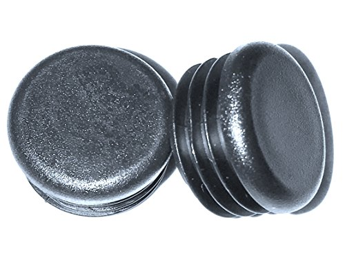 (Pack of 25) 7/8'' Round Snap-On Plastic Tubing Plug, (14 - 20 Ga - 0.71'' to 0.82'' ID) - Furniture Chair/Leg Pipe Tube Cover Insert | Fencing Post Sliding Inserts - End Caps for Fitness Equipment | by by SBD Ltd.