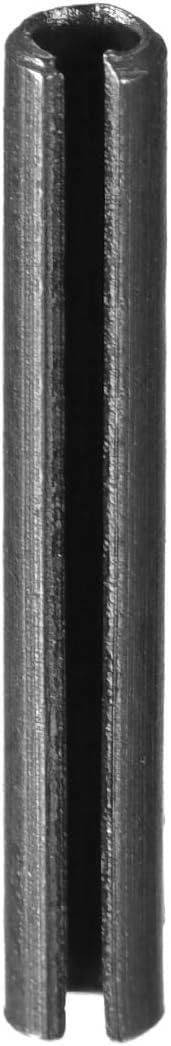 uxcell 3.3mm x 25mm Dowel Pin Carbon Steel Split Spring Roll Shelf Support Pin Fasten Hardware Black 20 Pcs