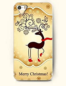 OOFIT Phone Case design with Well-dressed Reindeer - Merry Christmas for Apple iphone 5 5s 5g