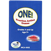 Learning Advantage Mental Math Board Game One Fraction Action Card Deck