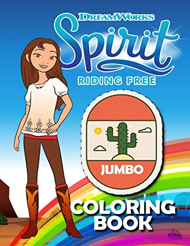 Spirit Riding Free JUMBO Coloring Book: Awesome Coloring Book - OVER 100 -
