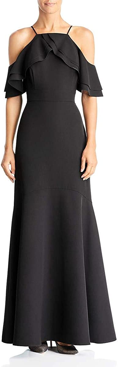 Laundry by Shelli Segal Womens Crepe Cutaway Gown