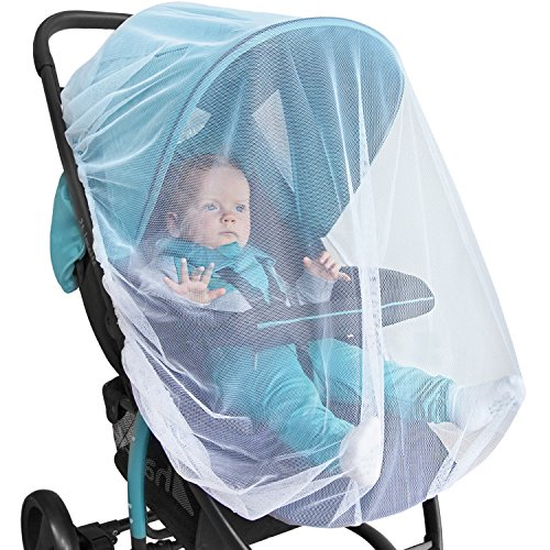 BABY MOSQUITO NET For Stroller, Car Seat & Bassinet – PREMIUM Infant Bug Protection For Jogger, Carrier & Pack N Play – Toddler Insect Shield Canopy & Gift Packaging (Bug Screen Accessory)