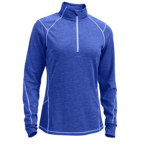 (EMS Women's Techwick Dual Thermo 1/4 Zip Dazzling Blue S)