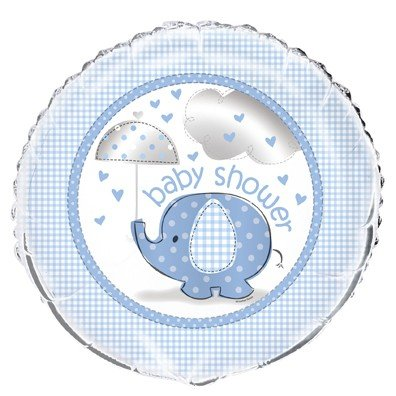 Blue Elephant Baby Shower 18 Foil Balloon by Unique