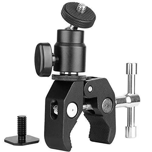 amp Mount Ball Head Clamp - Super Clamp and Mini Ball Head Hot Shoe Mount Adapter with 1/4