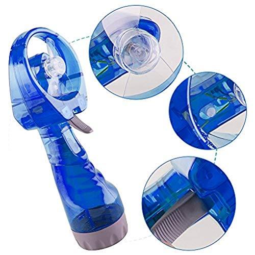 Price comparison product image Enshey Portable Fan Battery Powered Fan Mini Desktop Portable Mini Hand Held Water Spray Cooling Fan Hand Fan Small Electronic Fan