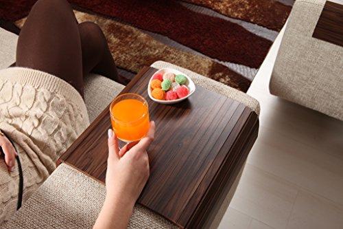 Sofa Tray Table ( Brazilian Walnut V2 ), Sofa Arm Table, Sofa Table, Armrest Tray Organizer, Side Sofa Table, Coffee Tea Tray, Tv Tray Table, Wood Gifts