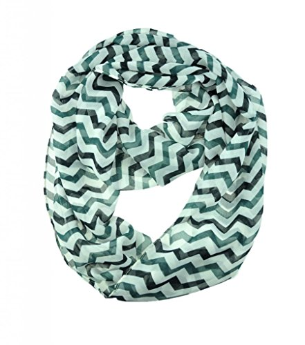 WishCart Girl's Infinity Loop Scarf Chevron Sheer Printed 6 Different (6 Different Colours)