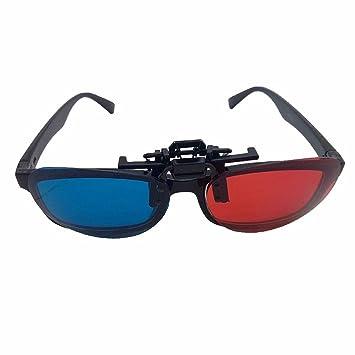 Liuxc Gafas de sol Gafas 3D Rojas y Azules Especiales para Cine Estéreo miope y polarizado