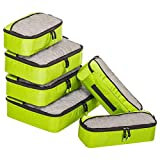 6 Set Packing Cubes for Travel Carry On Luggage Organizer Bags Cubes
