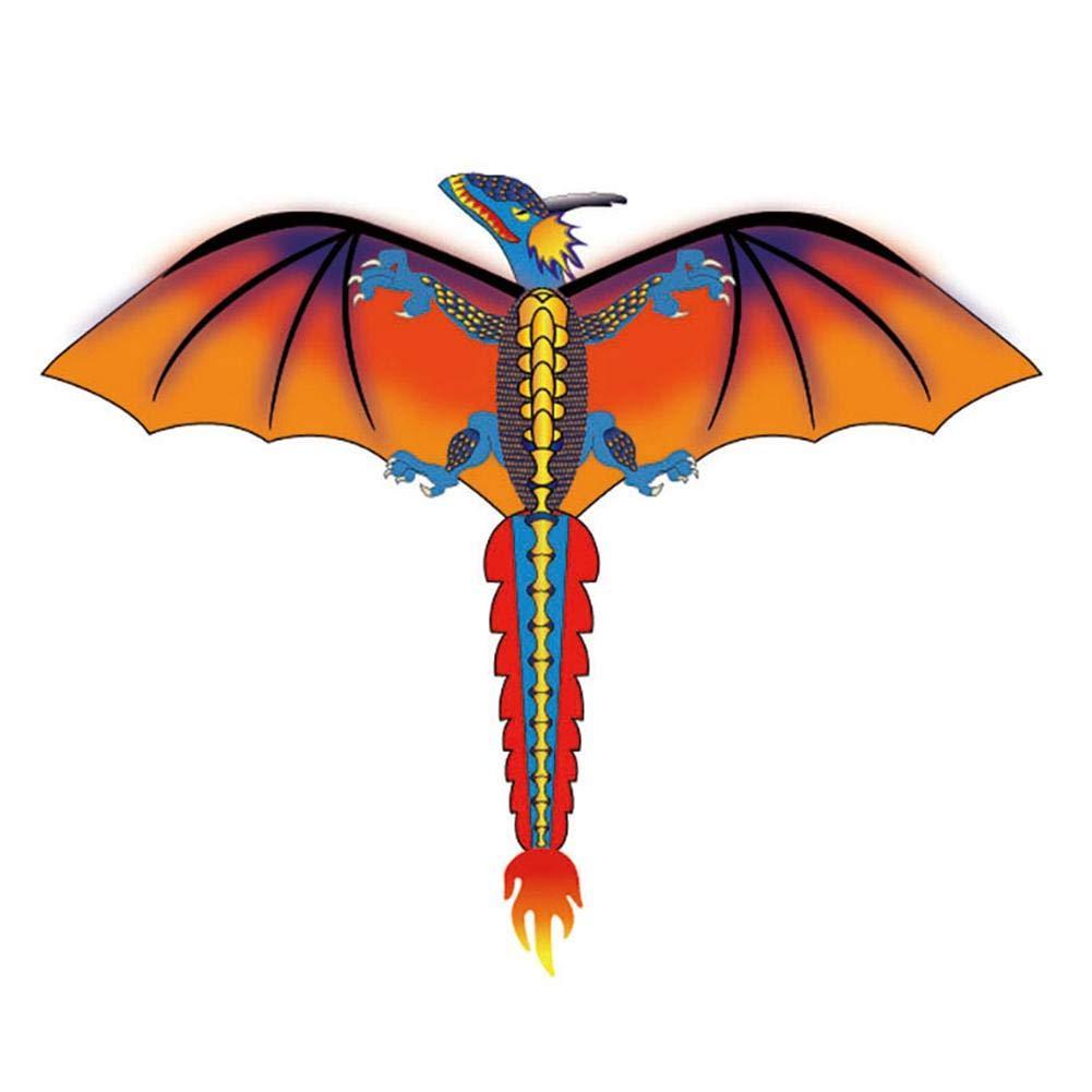 Elementral Cerf-Volant en Forme de Dinosaure 3D avec Panneau de Ligne de 100 mètres et Queue en Rotation qualité fiable Grande Jouets de Plein air pour garçons et Filles
