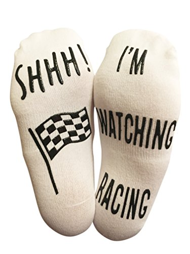 'SHHH I'm Watching Racing' Funny Ankle Socks - For Racing - F1 Racing
