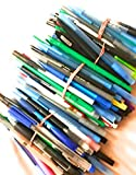 Wholesale Lot of 100 Misprint Ink Pens Ball Point Plastic Retractable Pens Mixed