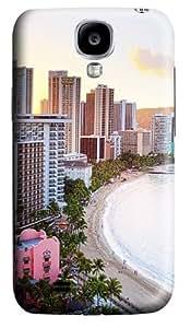 Waikiki Beach Hawaii Custom Samsung Galaxy I9500/Samsung Galaxy S4 Case Cover Polycarbonate 3D