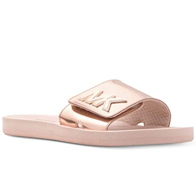 390d08cc5db1 Michael Kors Poll Slide Sandals Rose Gold (9)