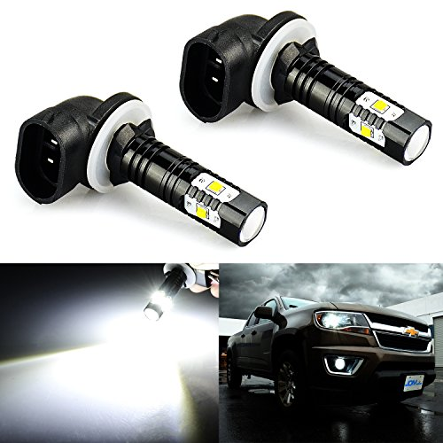 JDM ASTAR Extremely Bright Max 30W High Power 881 LED Bulbs for DRL or Fog Lights, Xenon White