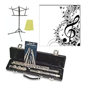gemeinhardt 2sp silver plated flute outfit includes a free 8 x 8 musical canvas. Black Bedroom Furniture Sets. Home Design Ideas