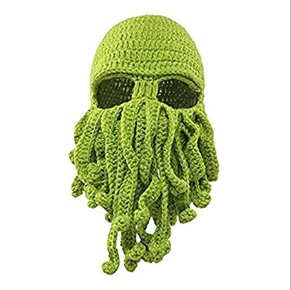 cae40377052 Hat Crochet - Funny Tentacle Octopus Hat Crochet Beard Beanie Men 39 S  Women Knit Wind