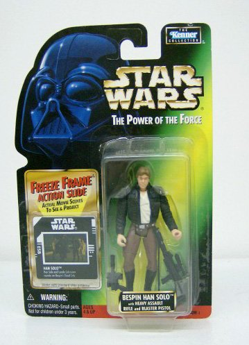 - Star Wars, The Power of the Force Green Card, Bespin Han Solo Action Figure, 3.75 Inches