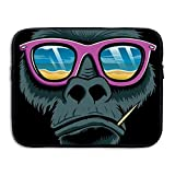 Mr.Roadman Laptop Sleeve Bag Cool Gorilla Head With Sunglasses Briefcase Sleeve Bags Cover Computer Liner Case Waterproof Computer Portable Bags
