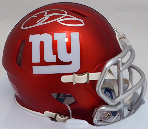 Odell Beckham Jr. Autographed New York Giants Red Blaze Speed Mini Helmet Beckett BAS (New York Giants Mini Speed Helmet)
