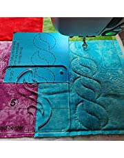 Free Motion Quilting Template Braid Border Quilting Template for Domestic Sewing Machine