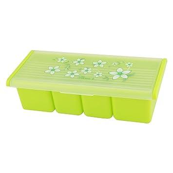 uxcell plástico diseño de flores Home condimento sal pimienta Especias Dispensador de almacenamiento Caja