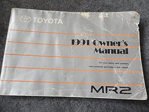 1991 toyota mr2 owners manual toyota amazon com books rh amazon com Toyota MR2 Spyder Toyota MR2 Turbo