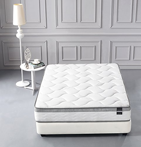 Cool Memory Foam /& Pocket Spring Mattress Firm Mattress Green Foam Certified Full Oliver Smith Organic Cotton 10 Inch