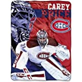 NHL Montreal Canadiens Blanket - Carey Price Polyester Silk-touch throw blanket, 50 x 60""