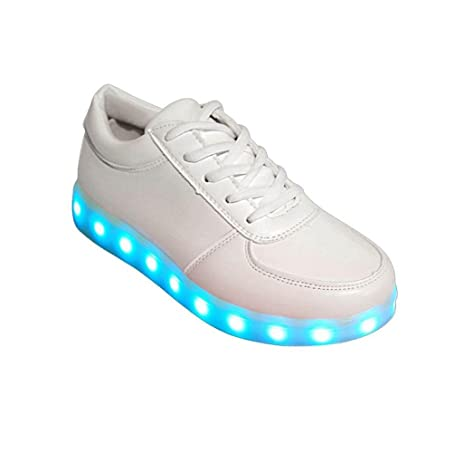 Amazon Com Gloous Girls Boys Glow Shoes Fashion Sneakers Flashing