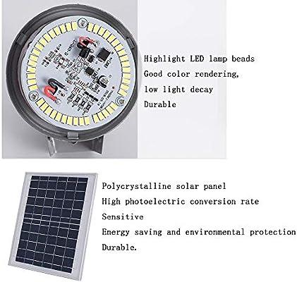 WRHN - Luz solar para jardín o exteriores, impermeable, LED, 6 W/9 W, control de iluminación para el paisaje de jardín + mando a distancia, dos opciones (color: A, tamaño: 9 W): Amazon.es: Hogar