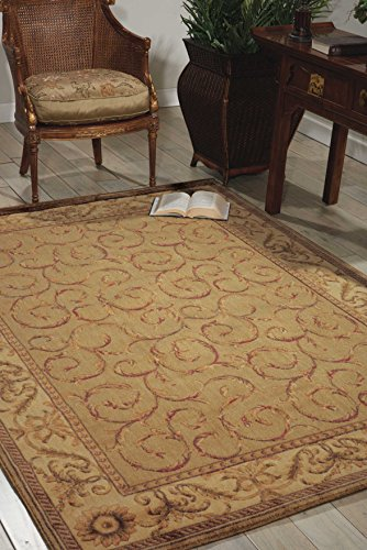 Nourison Somerset (ST02) Meadow Rectangle Area Rug, 5-Feet 3-Inches by 7-Feet 5-Inches (5'3