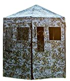 Down & Out Warrior; Hunting Blind; Ground Blind, Aluminum 360 View Frame 12 Magnetic Windows