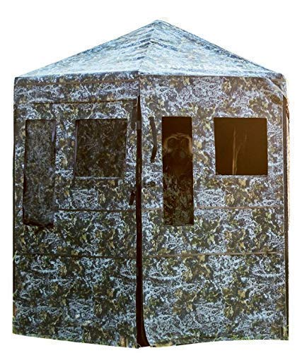 Down & Out Warrior; Hunting Blind; Ground Blind, Aluminum 360 View Frame 12 Magnetic Windows (Best Ground Blind For Bowhunting)