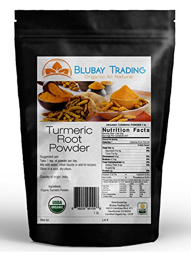 5169jipgVjL - Turmeric Powder Organic Pure Non-Gmo 1 lb (Curcuma Longa)