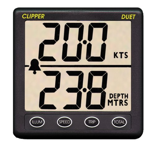 Clipper CL-DS Duet Instrument Depth Speed Log With ()