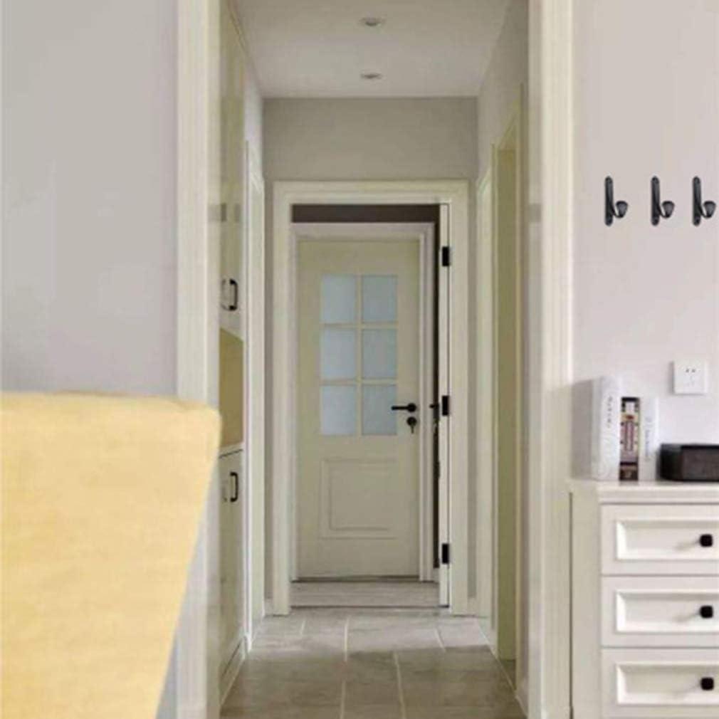 Meitanyuan Self Adhesive Hooks,Rustproof Waterproof Towel Robe Stands for Bathroom Kitchen Bedroom,Black 1 Black