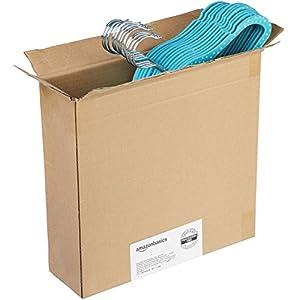 AmazonBasics Kids Velvet Hangers – 30-Pack, Blue Polka Dot