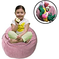 Kids Bean Bag Chair, EXTRA LARGE Bean Bag Cover for Kids Room, Storage Solution for Bedroom, Childrens Chair Cover
